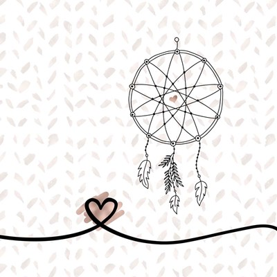 Dream Catcher Hearts and Pattern Poster by Tara Moss for $48.75 CAD
