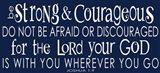 Be Strong and Courageous II
