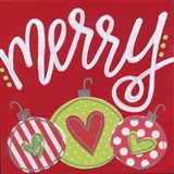 Red Ornaments Merry