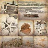 Sepia Seaside Collage II