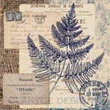 Blue Fern Stamp