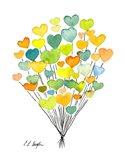 Citrus Heart Balloons
