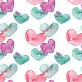 Pink Hearts Pattern II