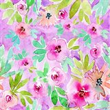 Floral Pattern - Purple Background