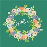 Gather Green Floral