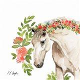 Peach Floral Horse