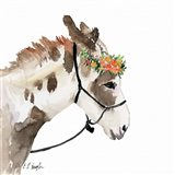 Pony with Floral Crown