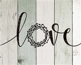 Love Rustic Wreath II