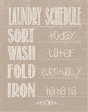 Laundry Schedule - Beige