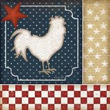 Red White and Blue Rooster I