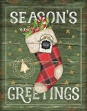 Season's Greetings Stocking