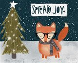 Spread Joy Hipster Fox