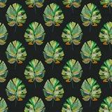 Tropical Leaves - Black