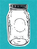 Pop Art Mason Jar - Blue
