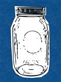 Pop Art Mason Jar - Dark Blue