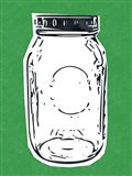 Pop Art Mason Jar - Green