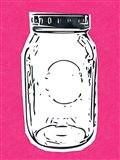 Pop Art Mason Jar - Hot Pink