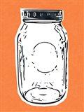 Pop Art Mason Jar - Orange