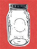 Pop Art Mason Jar - Red