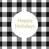 Happy Holidays Plaid
