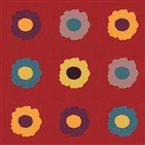 Sunflower Sampler on Red