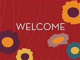 Multicolor Welcome on Red