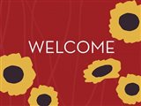 Sunflower Welcome on Red