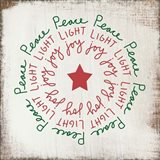 Peace, Light, Joy - Red and Green