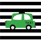 Bright Green Taxi