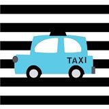 Bright Blue Taxi