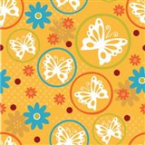 Butterflies and Blooms Playful V
