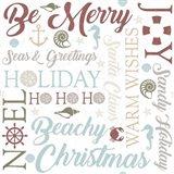 Coastal Christmas Typography