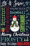 Snowman Typography