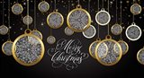 Merry Christmas - Gold Ornaments