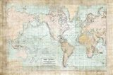 World Map Vintage 1913