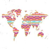 World Map Kilim & Gold