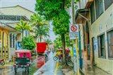 Rainy Street Iquitos Peru