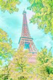 Pastel Eiffel in Trees