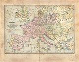 Vintage Napoleon Empire Map