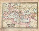 Vintage Roman Empire Map