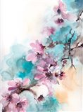 Cherry Blossoms on Blue