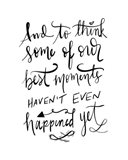 Best Moments - Hand Lettered