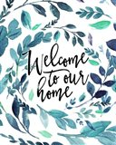Welcome to Our Home - Blue