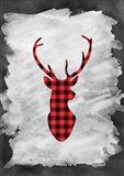 Plaid Deer Head