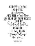 Matthew 7-25
