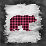 Pink Plaid Bear