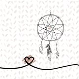 Dream Catcher Hearts and Pattern