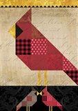Patchwork Cardinal Tall