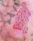 Cities on Pink Floral