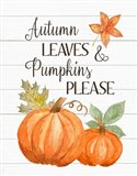 Autumn Leave and Pumpkins Please